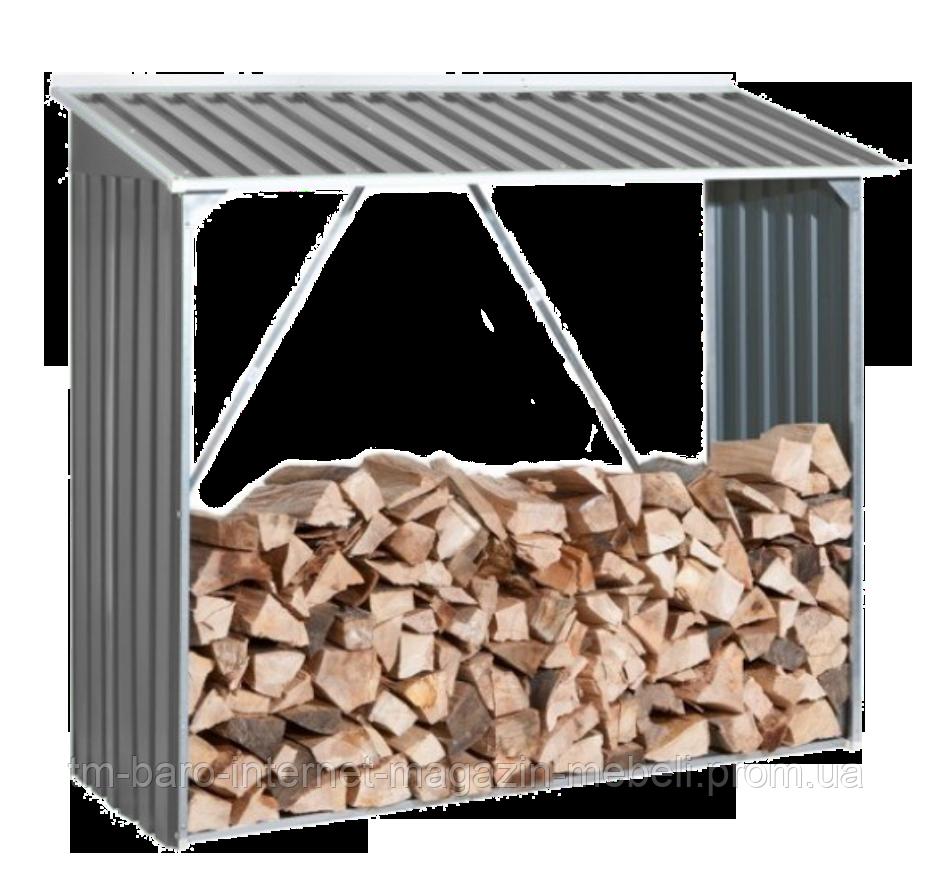 Накрытие для дров металлическое, серый с белым, DURAMAX