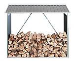 Накрытие для дров металлическое, серый с белым, DURAMAX, фото 2