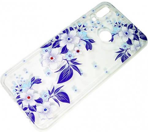 Силикон Huawei P Smart Plus violet Flowers iPefet, фото 2