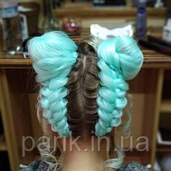 🍃 Канекалон мята, косы, цветные пряди волос 🍃