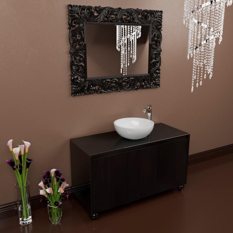 Тумба напольная для ванной комнаты Marsan Penelope 1200 черная