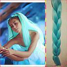 🍃 Канекалон однотонный мятный для брейд и причёсок 🍃, фото 3