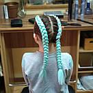 🍃 Канекалон однотонный мятный для брейд и причёсок 🍃, фото 8