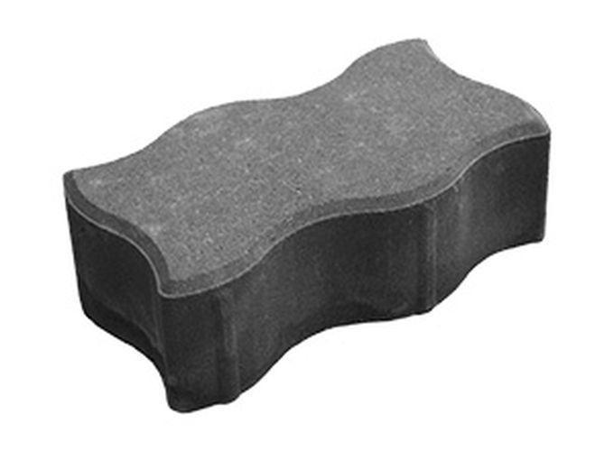 """Тротуарная плитка """"Волна"""" 80 мм серый, сухопрессованная"""