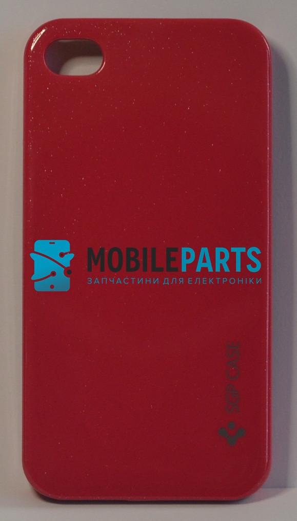 Пластиковый Чехол-накладка Fashion Classic (SGP Case) с перламутровым отливом для iPhone 4 | 4S (Розовый)