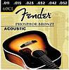 Струны для акустической гитары Fender 60CL 11-52 (2 комплекта + настенное крепление для гитары)