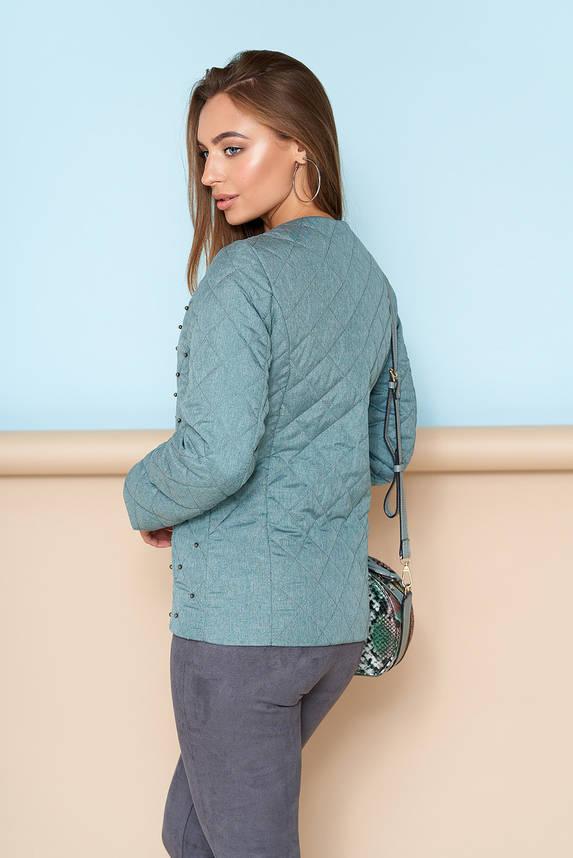 Короткая куртка на весну женская зеленая , фото 2