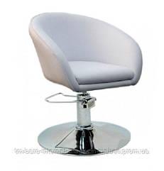 Кресло Мурат Р, белый кожзам