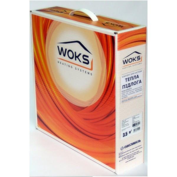 Нагревательный кабель WOKS-10, 14 кв.м, 2080 Вт под плитку