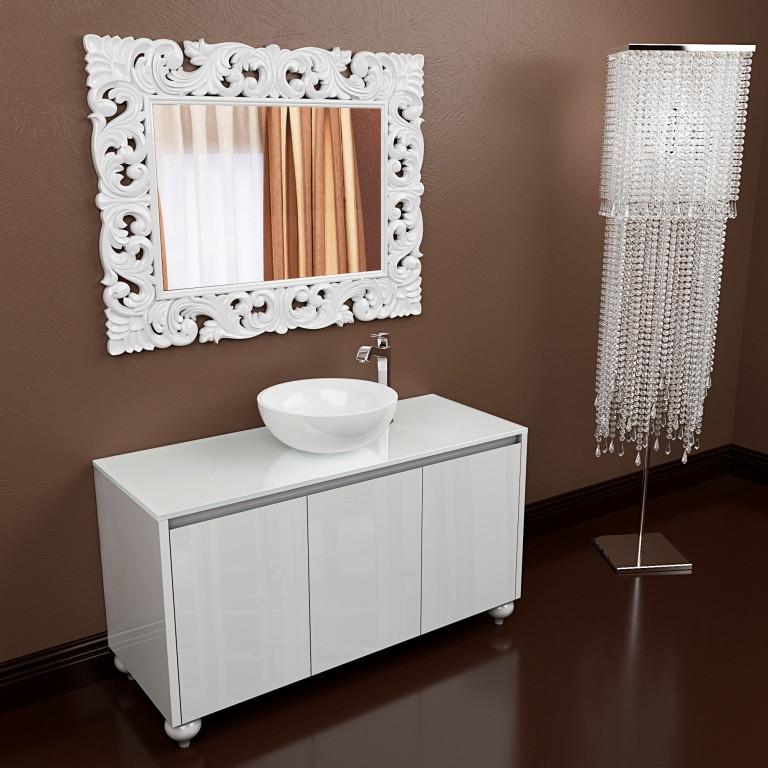 Тумба подвесная для ванной комнаты Marsan Penelope 1200 белая