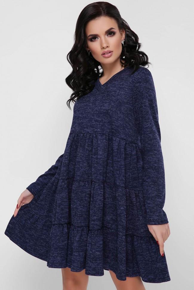 9e2681b4bff Красивое платье из ангоры с юбкой-клеш в рюши