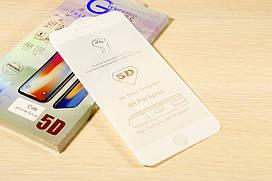 Защитное стекло 5D для iPhone 6 Plus / 6S Plus (White)