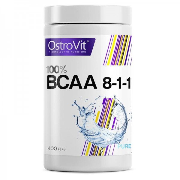 Аминокислота BCAA 8:1:1 Ostrovit 400 g без вкуса