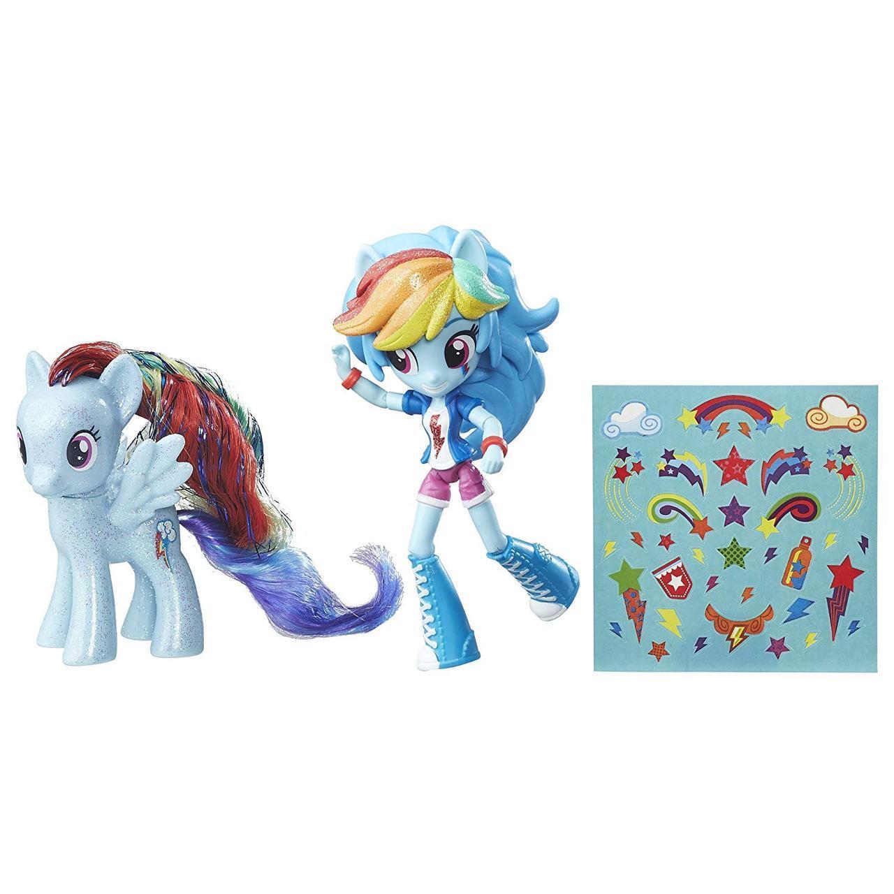 Набор Май лител пони Рейнбоу Деши блестящая пони My Little Pony Rainbow Dash & Glitter Pony Element Friendship