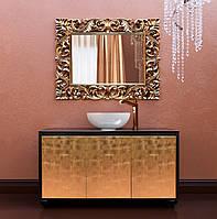 Тумба напольная для ванной комнаты Marsan Penelope 1200 в цвете фасад античное золото/серебро