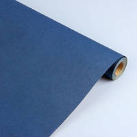 Упаковочная крафт бумага в рулоне синяя 80 г/м2, 84 см