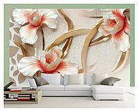 3D фотошпалери, квіти «Ніжні пелюстки», папір, вініл, флізелін
