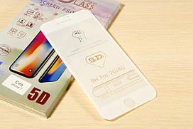 Защитное стекло 5D для iPhone 7 / 8 (White)