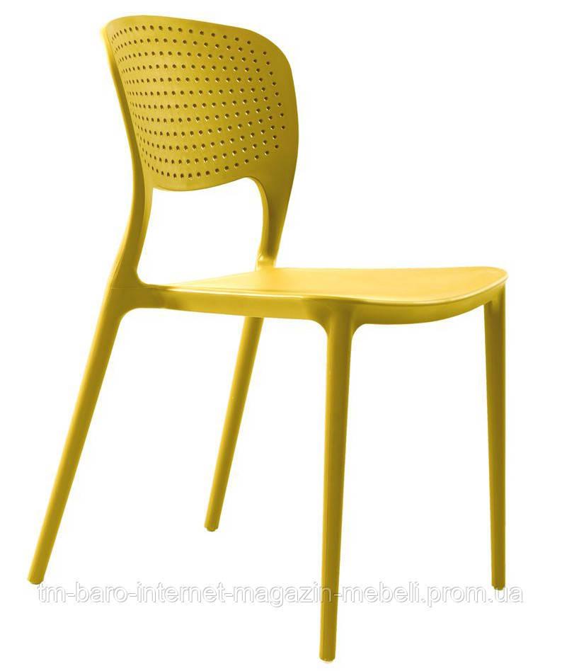 Стул пластиковый Spark (Спарк), желтый карри, Concepto