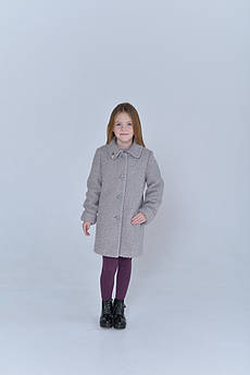 Пальто детское  Татьяна Филатова модель 224  серый