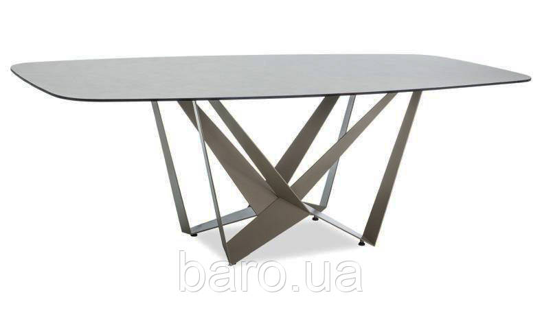 Стол обеденный Manhattan (Манхеттен) эффект мрамора/латте 105х76 см, Signal