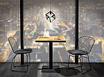 Стол Puro (Пуро) 60х60, дуб/черный, Signal, фото 2