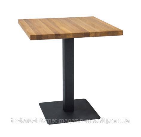 Стол Puro (Пуро) 70х70, дуб/черный, Signal
