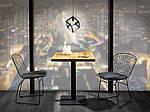 Стол Puro (Пуро) 70х70, дуб/черный, Signal, фото 2