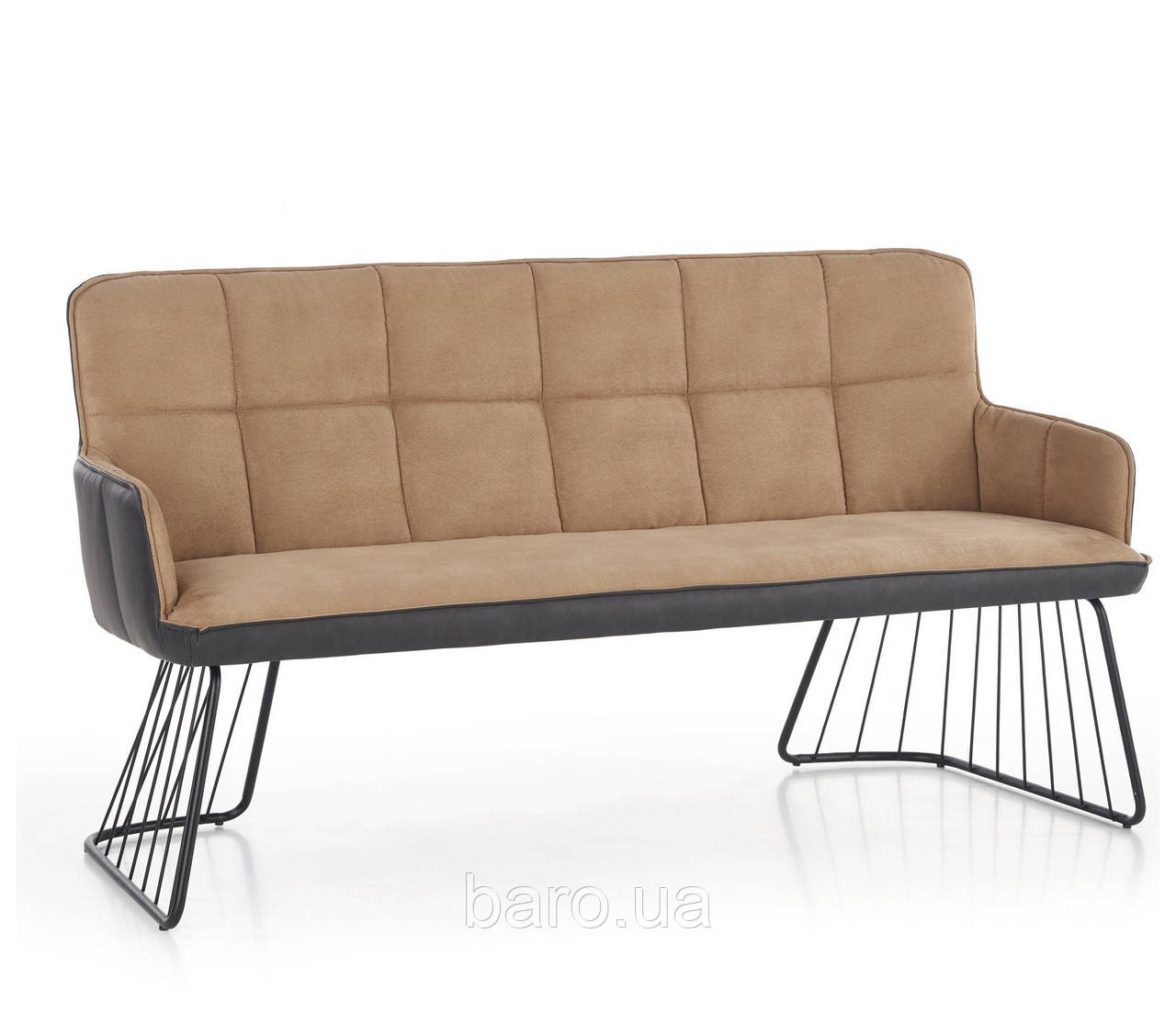Кресло-банкетка L-1 светло-коричневый, Halmar