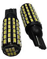 Лампа LED 12V T10 (W5W) 78SMD 3014 драйвер 650Lm БЕЛЫЙ