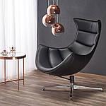 Кресло Luxor (Люксор) черный, Halmar, фото 8