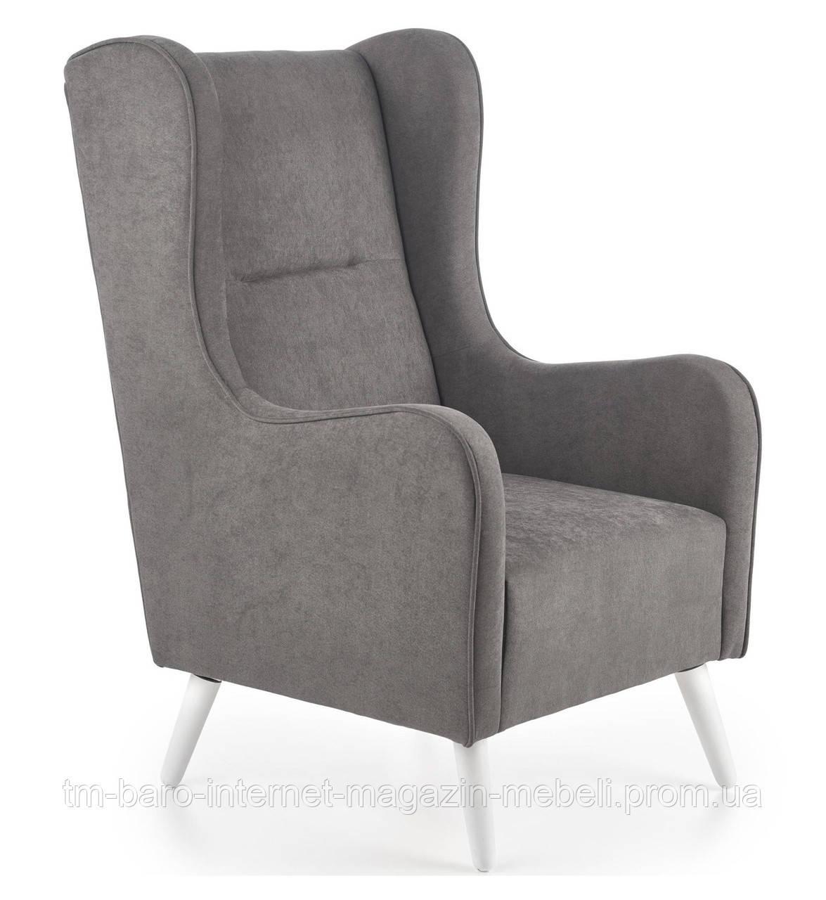 Кресло Chester (Честер) темно-серый, ткань, Halmar
