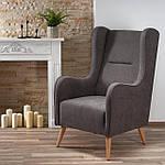 Кресло Chester (Честер) темно-серый, ткань, Halmar, фото 8