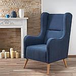Кресло Chester (Честер) синий, ткань, Halmar, фото 7