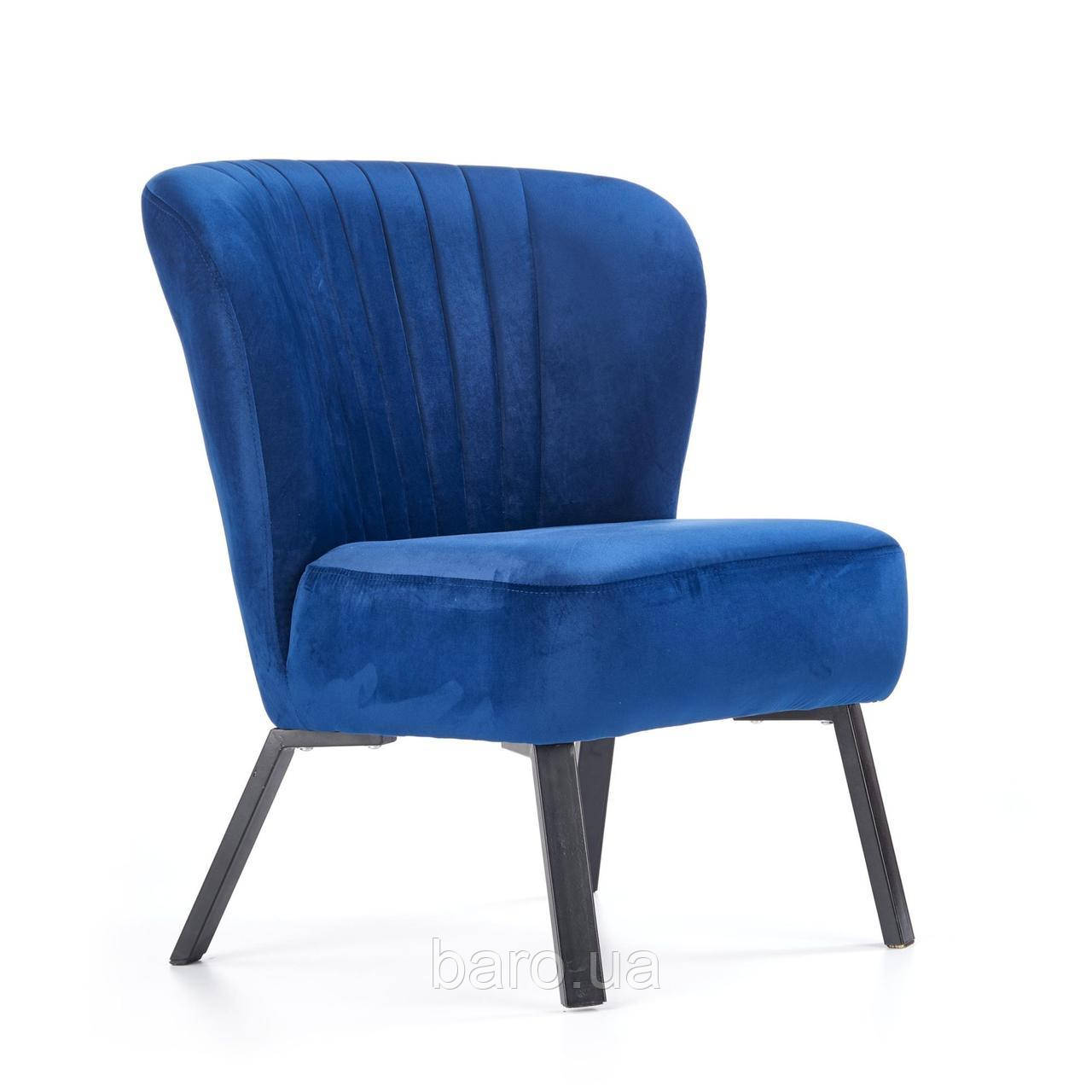 Кресло Lanister (Ланистер) синий, ткань, Halmar