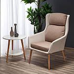 Кресло Purio (Пурио) бежево-коричневый, ткань, Halmar, фото 7