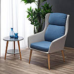Кресло Purio (Пурио) светло-серый/синий, ткань, Halmar, фото 7