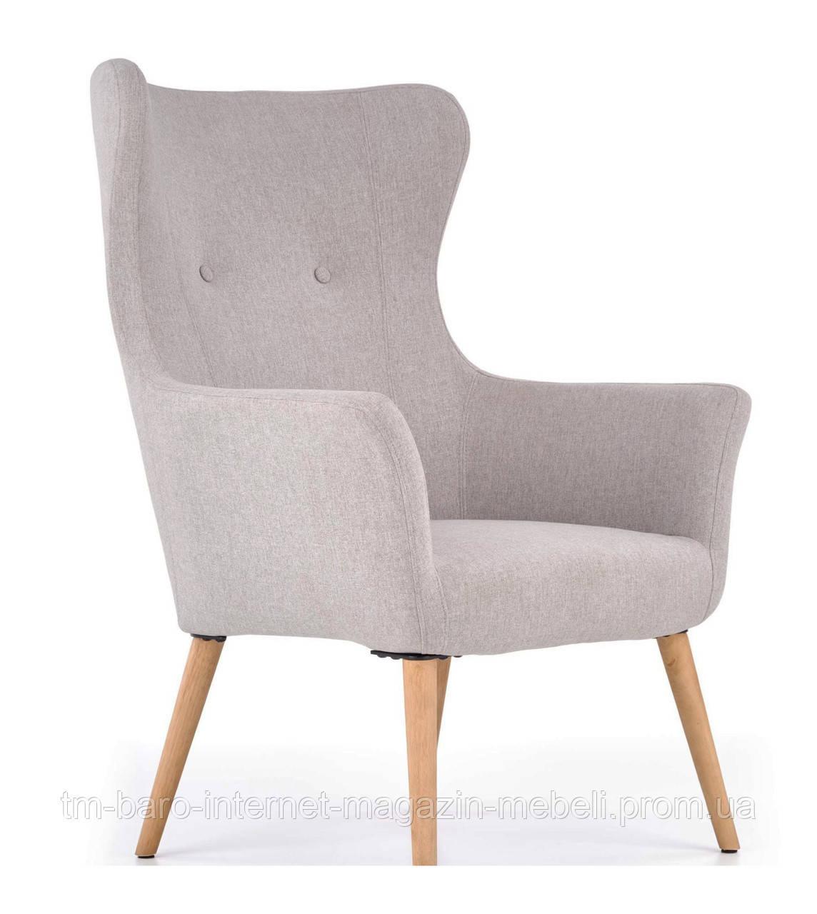 Кресло Cotto (Котто) светло-серый, ткань, Halmar