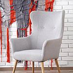 Кресло Cotto (Котто) светло-серый, ткань, Halmar, фото 9