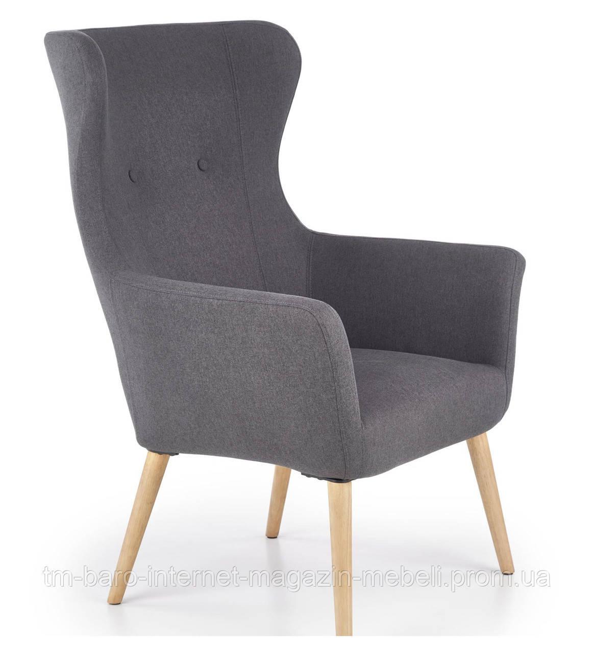 Кресло Cotto (Котто) темно-серый, ткань, Halmar