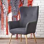 Кресло Cotto (Котто) темно-серый, ткань, Halmar, фото 5