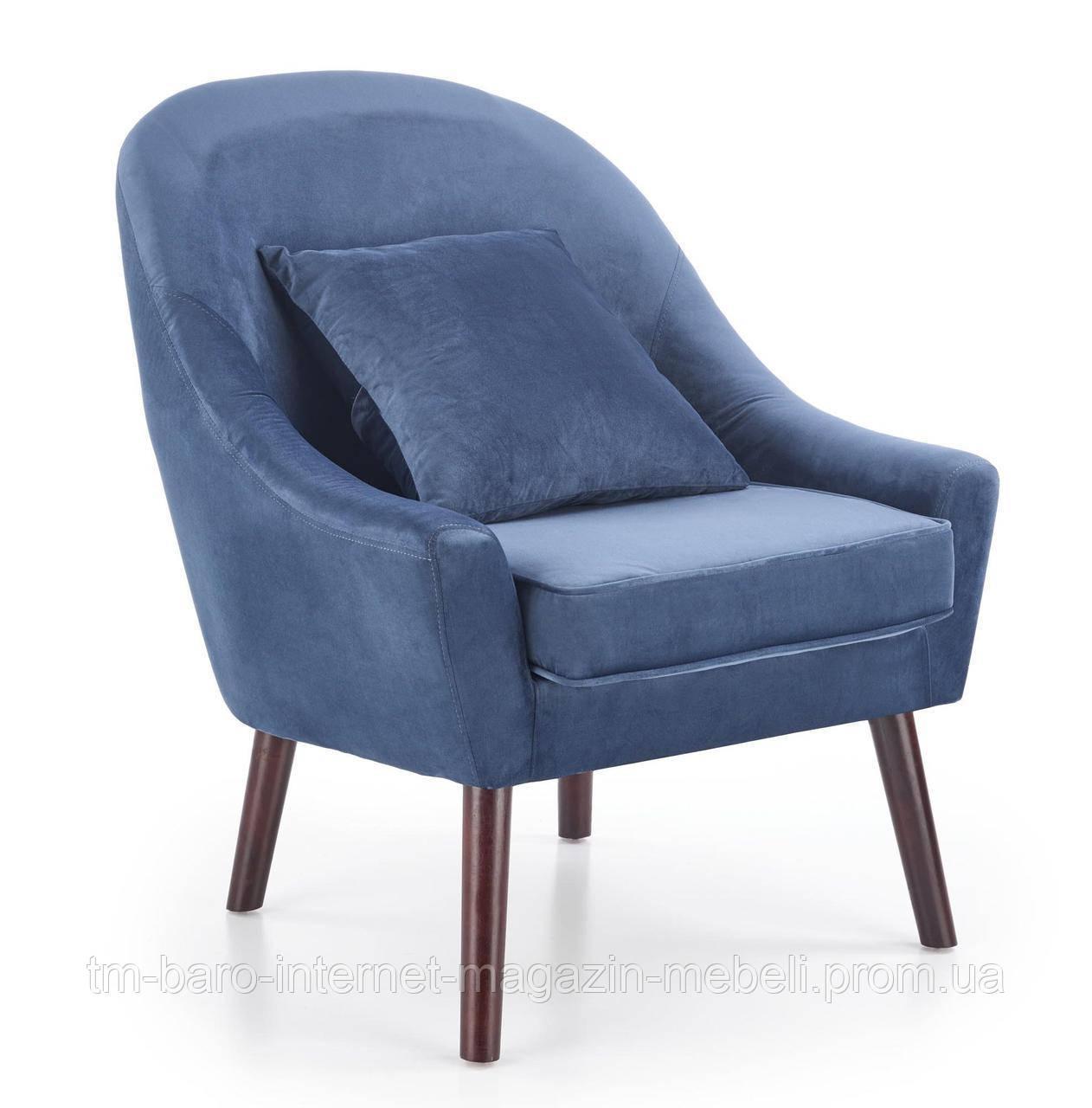 Кресло Opale (Опале) синий, ткань, Halmar
