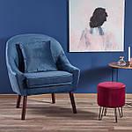 Кресло Opale (Опале) синий, ткань, Halmar, фото 8
