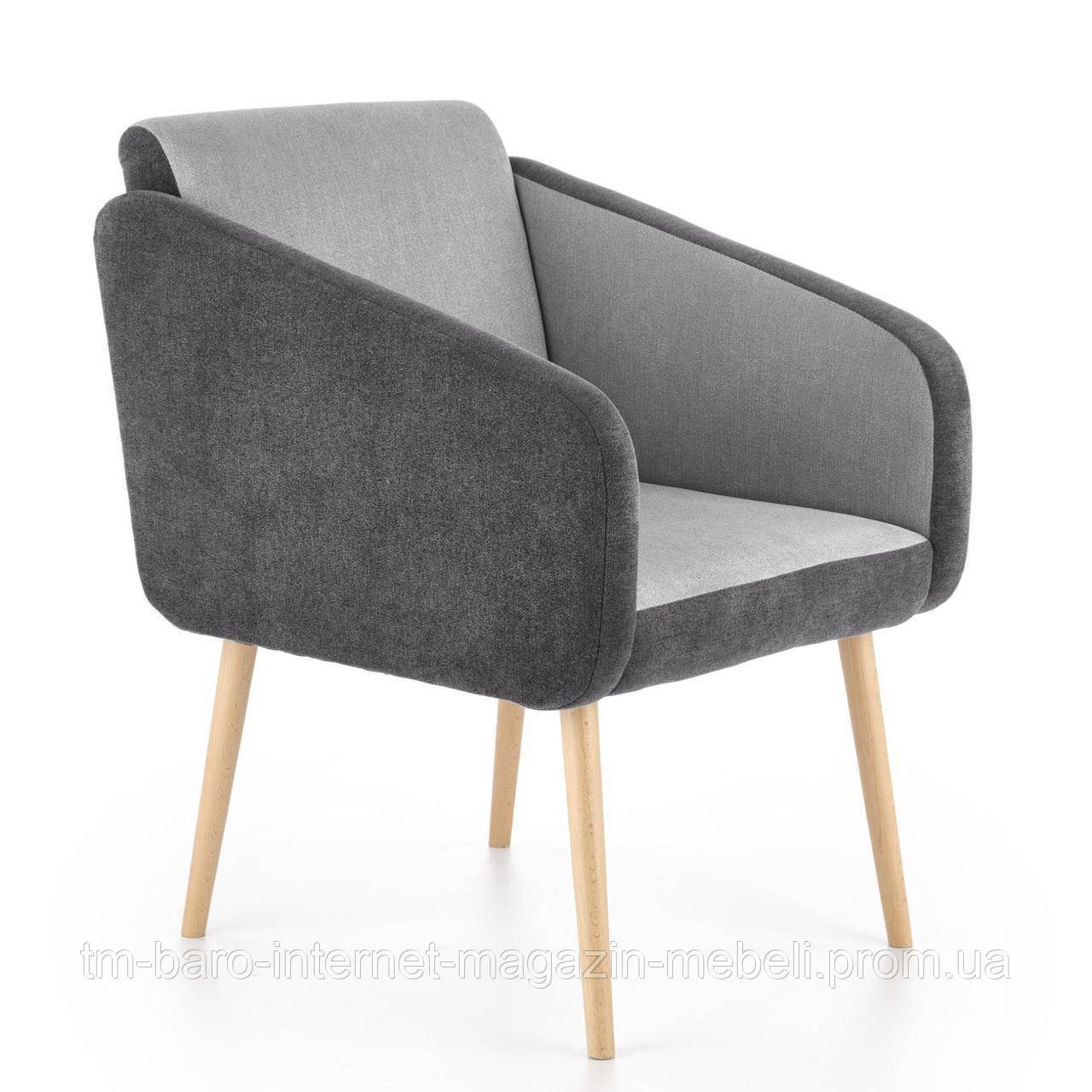 Кресло Well (Велл) светло-серый/серый, ткань, Halmar
