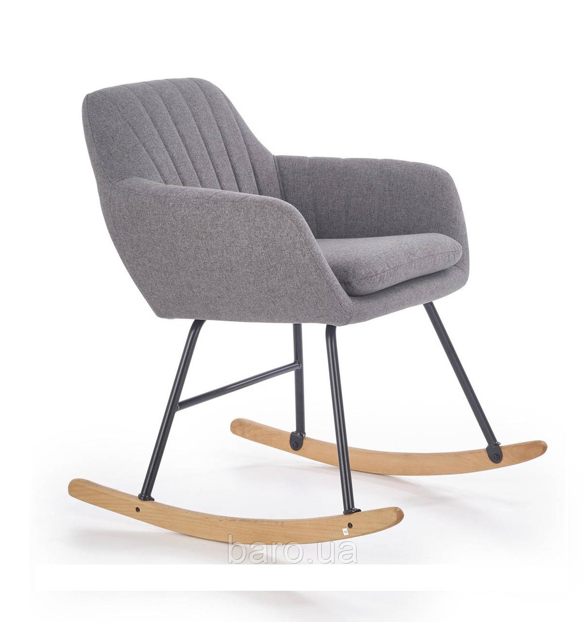 Кресло-качалка York (Йорк) серый, ткань, Halmar
