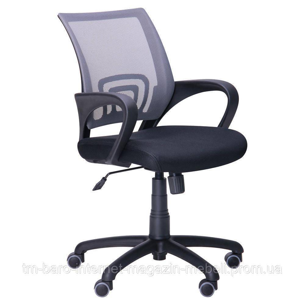 Кресло Веб, черный/серый, скетка