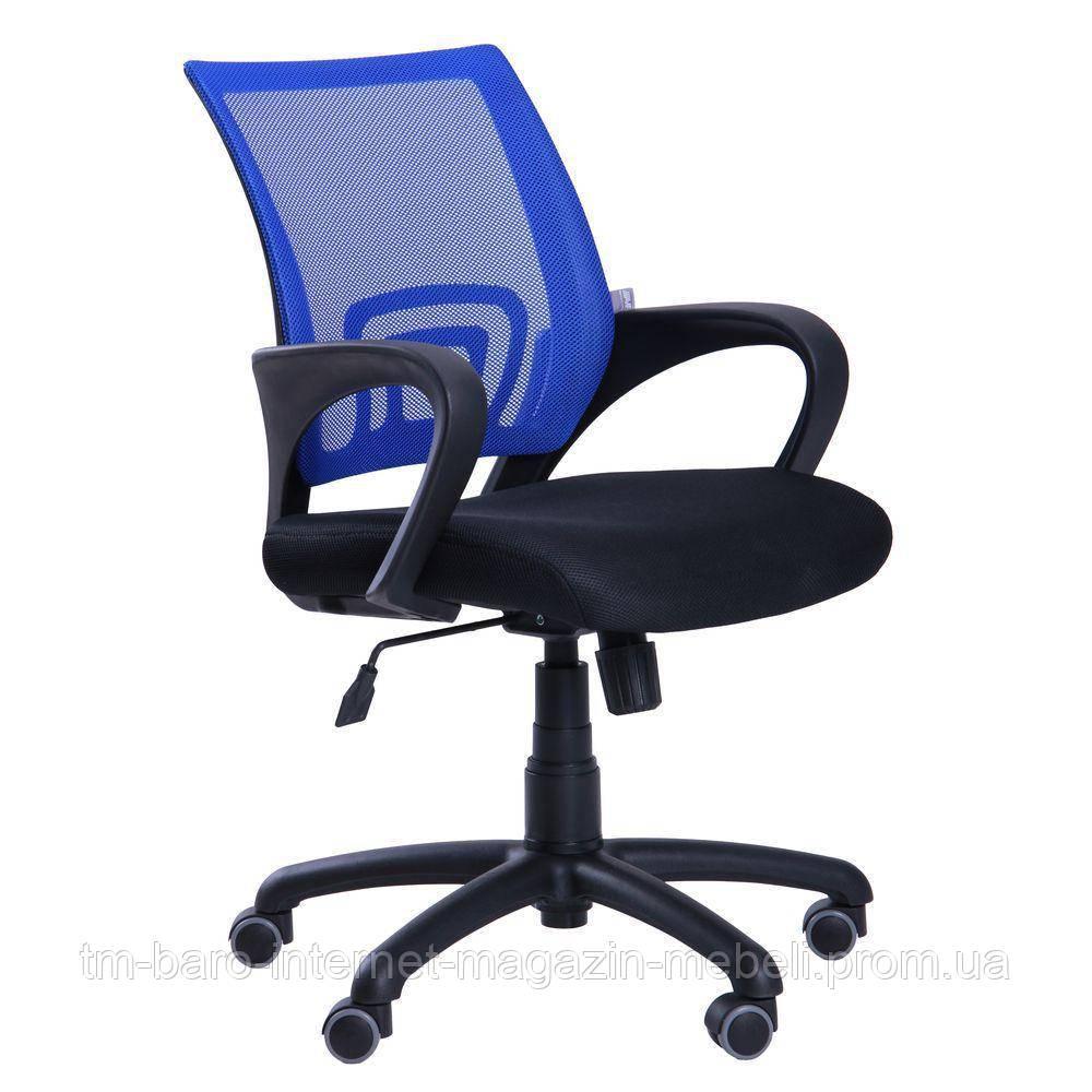Кресло Веб, черный/синий, скетка