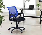 Кресло Веб, черный/синий, скетка, фото 8