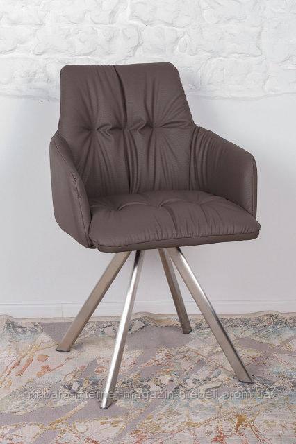Кресло поворотное Leon (Леон), мокко экокожа (Бесплатная доставка), Nicolas