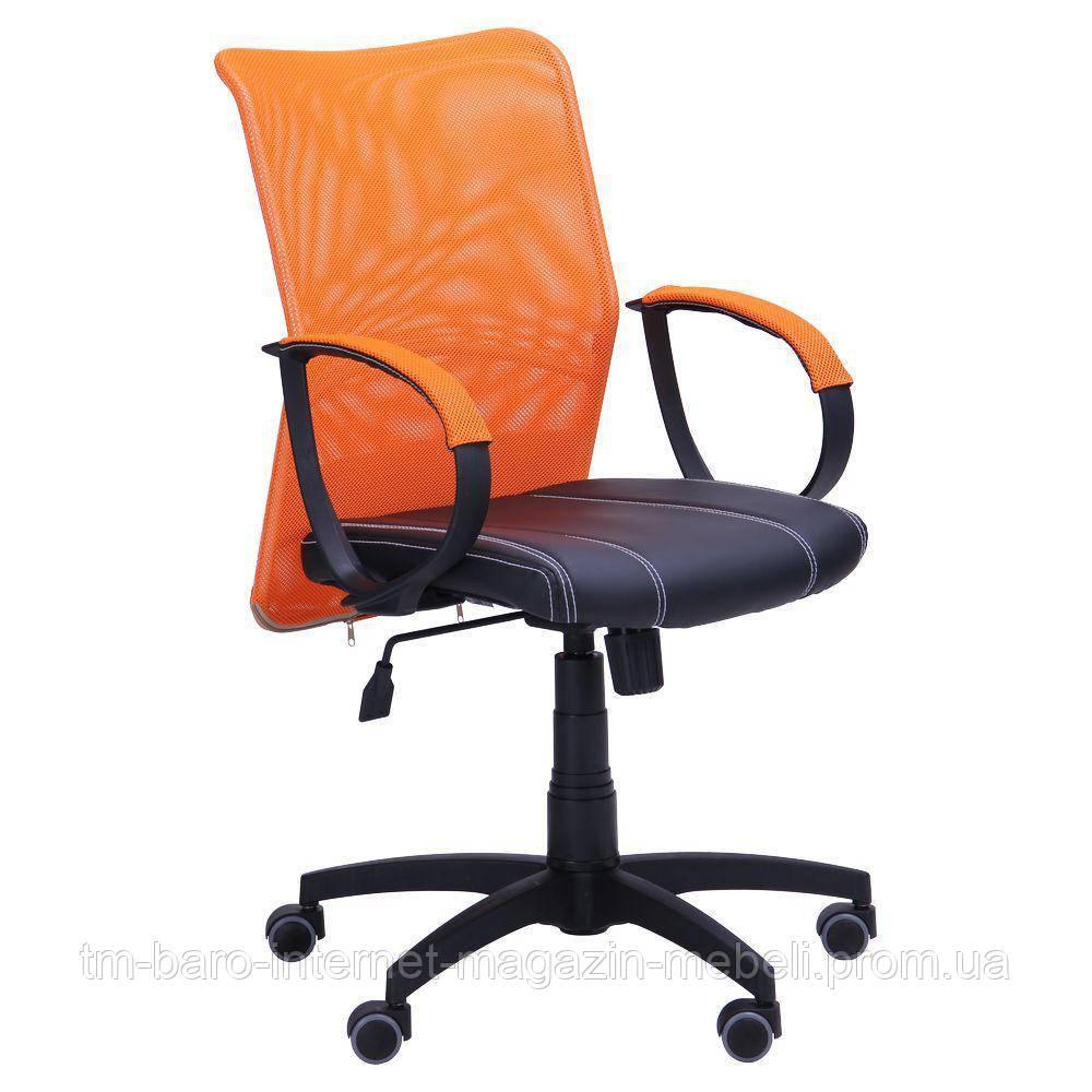 Кресло Лайт Net LB Софт АМФ-8 Неаполь N-51, сетка оранжевая